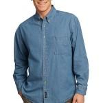 Faded Blue Denim Shirt