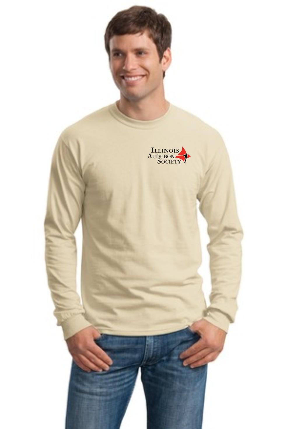Illinois Audubon Society Adult Cotton Long Sleeve T-Shirt ...